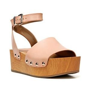 Sam Edelman Brynn nude leather platform sandals